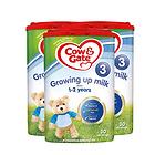 英國牛欄Cow&Gate 新版3段嬰兒奶粉 1~2歲 800g/罐 英牛3罐裝  新老包裝隨機發貨
