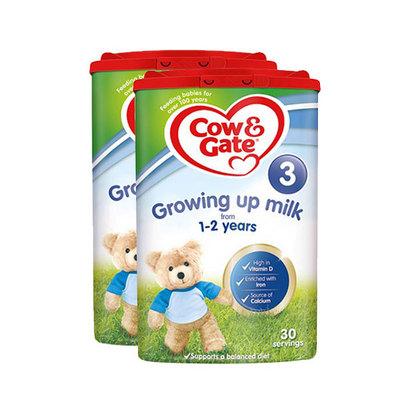 英国牛栏Cow&Gate 新版3段婴儿奶粉 1~2岁 800g/罐 英牛2罐装  新老包装随机发货