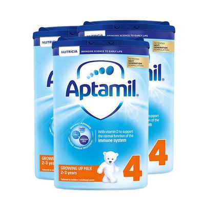 3罐装 英国原装进口 Aptamil爱他美奶粉4段800g/罐 2-3岁 新老包装随机发