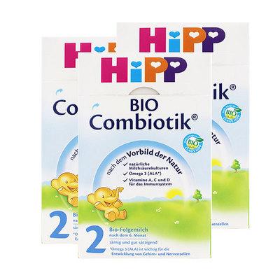 德国 喜宝HiPP 益生菌Combiotik奶粉 2段(6-10个月)600g/罐 3罐装