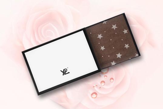 【张钧甯同款】YPL意大利星空驼绒围巾 紫外线遇光变色 保暖不扎身 ( 褐色)