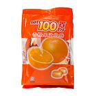 马来西亚进口LOT100一百份香橙果汁软糖150g儿童零食水果糖QQ糖果