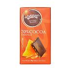 波兰进口 哇噢糖渍橙皮黑巧克力(可可含量70%)100g