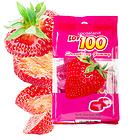 马来西亚LOT100一百份草莓果汁软糖150g