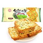 台湾 中祥自然之颜紫菜苏打饼干140g 进口早餐代餐零食饼干