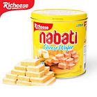 印尼进口休闲零食 丽芝士纳宝帝奶酪威化饼干350克