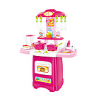 中国贝比谷仿真做饭厨房玩具套装电动水循环24件套 6662B粉色款