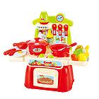 中国贝比谷儿童过家家做饭煮饭厨房玩具22件套装 888-2红色款
