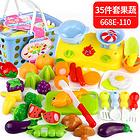 中国贝比谷儿童水果蔬菜切切乐玩具篮子装35件套 668-110款