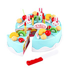 中国贝比谷儿童DIY生日蛋糕38件套切切乐玩具 699-1蓝色款