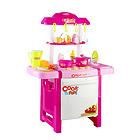 中国贝比谷仿真做饭厨房玩具套装电动水循环26件套 6663F粉色款