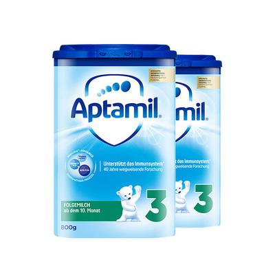 德国 Aptamil爱他美奶粉 3段 800g/罐 10-12个月  2罐装