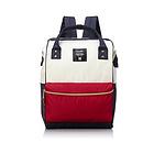 anello滌綸帆布大容量包包背包雙肩包 紅白藍撞色(小號)法國色 男女休閑雙肩包