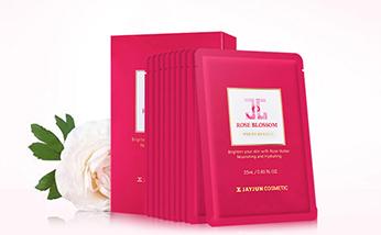韩国JAYJUN玫瑰焕颜雪肌面膜红玫瑰水光面膜 添加精油成分 亮泽肌肤敷出来 一盒/两盒