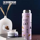 杯具熊保溫杯不銹鋼成人保溫杯450ml 長效保溫大容量 貓咪杯款