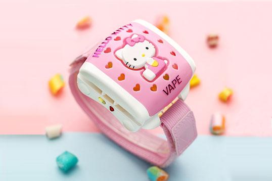日本VAPE未来hellokitty儿童粉色驱蚊器驱蚊手环5倍20日