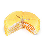【国货精品】榴芒一刻榴芒双拼千层蛋糕 约945g,适合6-8人食用
