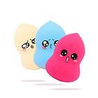 【国货精品】UKISS/悠珂思橄榄斜切面水滴粉扑2个/组 颜色形状随机发货