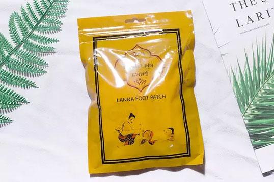泰国LANNA兰纳足贴 祛湿驱寒缓解痛经改善睡眠 男女老少都能贴 10贴/包