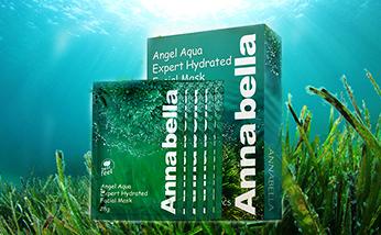 直郵 泰國ANNABELLA/安娜貝拉海藻面膜 礦物質精華深層補水保濕10片/盒