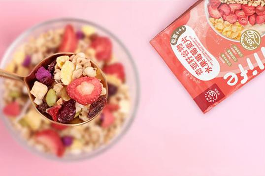 好麦多HONlife奇亚籽谷物水果莓莓麦片300g*2袋