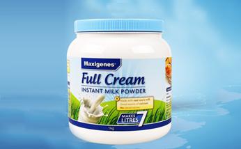 澳大利亚美可卓Maxigenes蓝胖子全脂成人奶粉 高钙孕妇营养牛奶粉1kg/罐