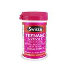 SWISSE WOMEN'S TEENAGE ULTIVITE 青少年少女复合维生素片 青春期营养片 60粒/瓶