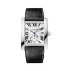 cartier卡地亚TANK系列机械男表 2014新款皮带方形手表 W5330003