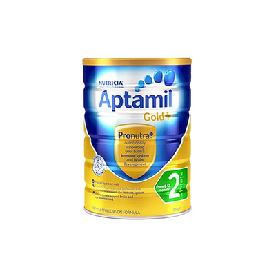 澳洲爱他美金装  爱他美Aptamil 金装婴儿配方奶粉2段 6-12个月900g/罐